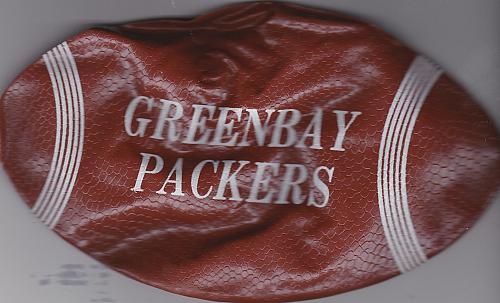 """Vintage 1960's 7"""" inflatable football Green Bay Packers"""