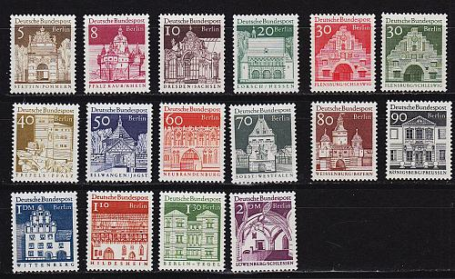 GERMANY BERLIN [1966] MiNr 0270-85 ( **/mnh )