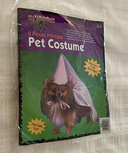 Brand New Two Piece Princess Costume Dog Cat ONE SIZE For Dog Rescue Charity