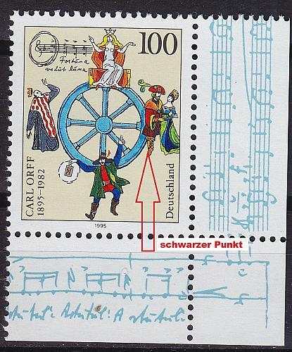 GERMANY BUND [1995] MiNr 1806 F10,I ( **/mnh ) Plattenfehler