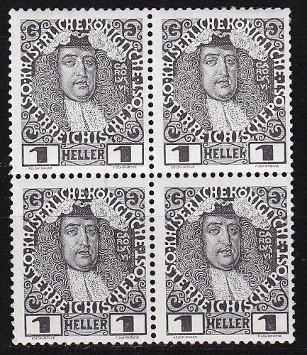ÖSTERREICH AUSTRIA [1908] MiNr 0139 ( **/mnh ) [01] 4er