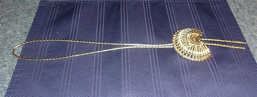 Handmade Gold Tone Headdress Square Dance Bolo Tie For Dog Rescue Charity