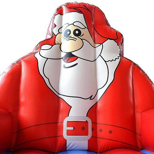 Inflatable Santa Claus Bounce House Christmas Jumper (Blower Not Included)