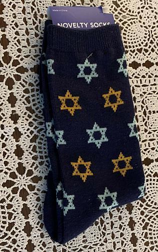 Brand New Crew Socks 4 to 10 Hanukkah Jewish Star Of David 4 Dog Rescue Charity