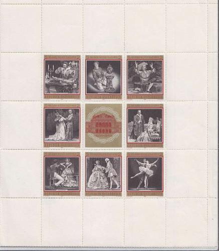 ÖSTERREICH AUSTRIA [1969] MiNr 1294-01 Kleinbogen ( **/mnh ) Oper