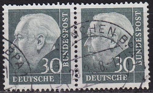 GERMANY BUND [1957] MiNr 0259 x 2er ( O/used ) [01]