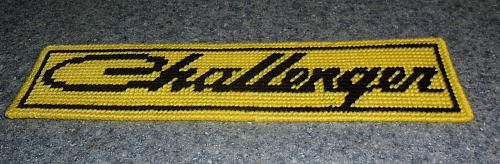 Brand New Needlepoint Sign DODGE CHALLENGER For Cocker Spaniel Rescue Charity