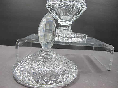 Hand Cut 24% lead crystal Trophy with space for etching Award
