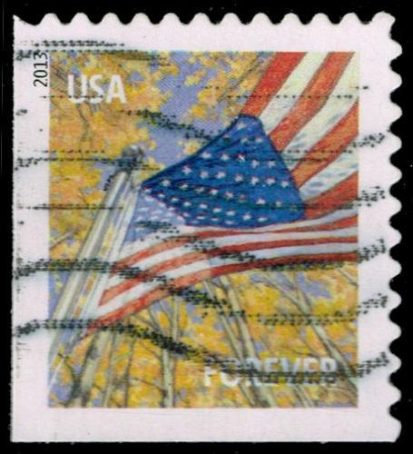 US #4784 Flag in Autumn; Used (3Stars)  USA4784-01