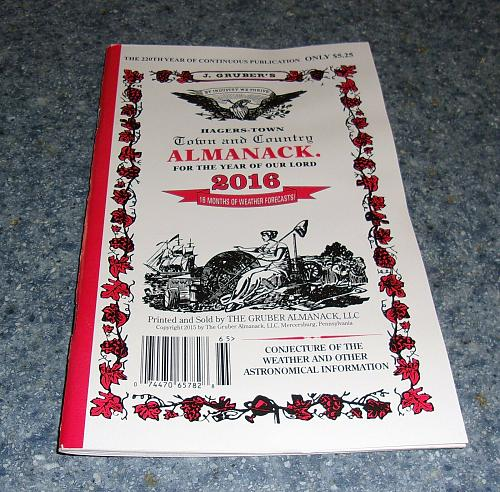 Brand New 2016 Grubers Hagerstown Town and Country Almanack 4 Dog Rescue Charity