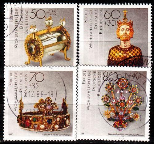 GERMANY BUND [1988] MiNr 1383-86 ( O/used ) Kunst