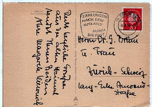 GERMANY - THE BERLIN COLLECTION FDC7640