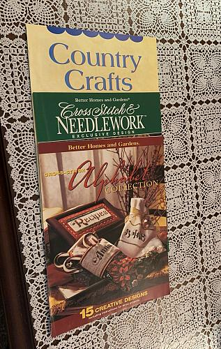 Three Better Homes Gardens Booklets Cross Stitch Alphabet Country Craft Ideas