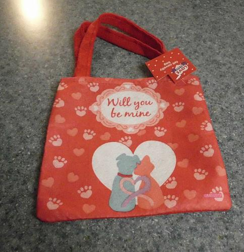 Brand New Cute Dog and Cat Themed Felt Gift Bag 4 Cocker Spaniel Rescue Charity