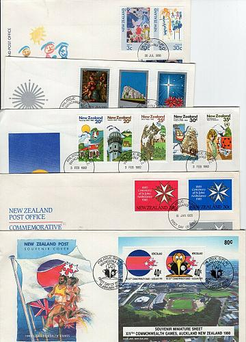 NEW ZEALAND - TEN FIRST DAY COVERS FDCB17
