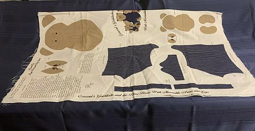 Brand New Concord Fabrics Joan Kessler Goldilocks Cotton Fabric Pillow Panel