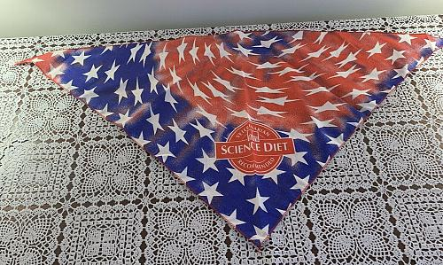 Brand New Patriotic Design Science Diet Dog Bandana For Dog Rescue Charity