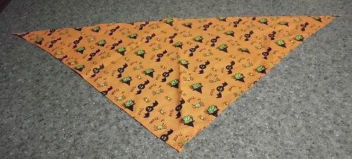 Brand New Halloween Witches and Bats Design Dog Bandana For Dog Rescue Charity