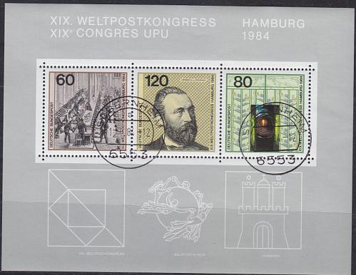 GERMANY BUND [1984] MiNr 1215-17 Block 19 ( O/used ) Post