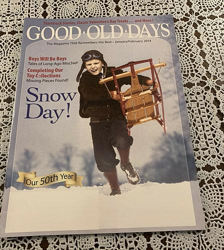 Good OId Days Magazine January February 2014 Issue For Dog Rescue Charity