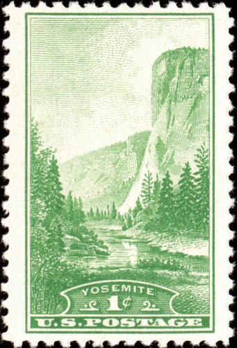 1934 1c Yosemite National Park, California Scott 740 Mint F/VF NH