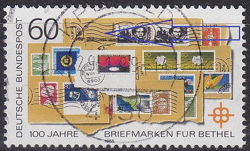 GERMANY BUND [1988] MiNr 1395 IV ( O/used ) [01] Plattenfehler
