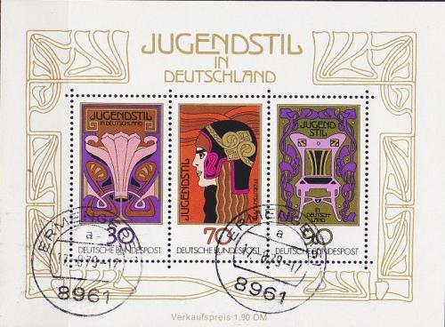 GERMANY BUND [1977] MiNr 0923-25 Block 14 ( O/used ) Kunst