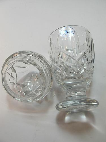 Hand Cut 24% lead crystal candy jar with lid