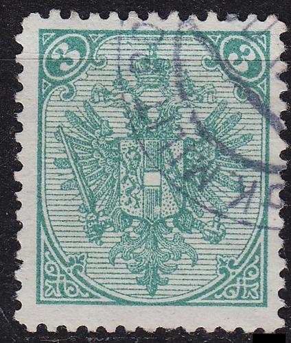ÖSTERREICH AUSTRIA [BosHerz] MiNr 0003 II B ( O/used )