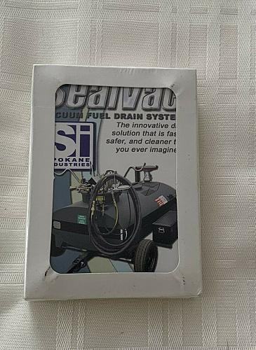 Brand New Advertising Deck Sealvac Vacuum Fuel Drain System Playing Cards MIP