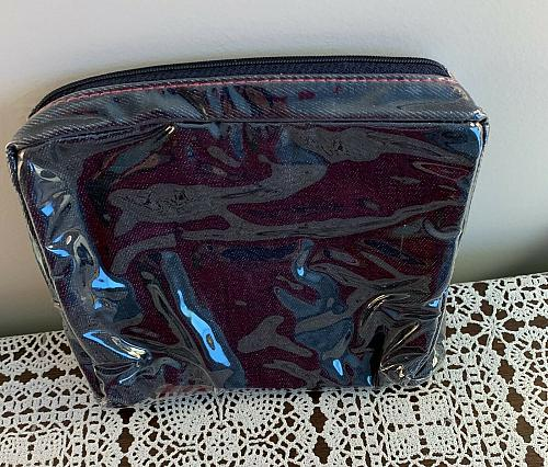 Elissa Bloom Hand Beaded Zippered Makeup Travel Bag Lined Cosmetic Pouch Case