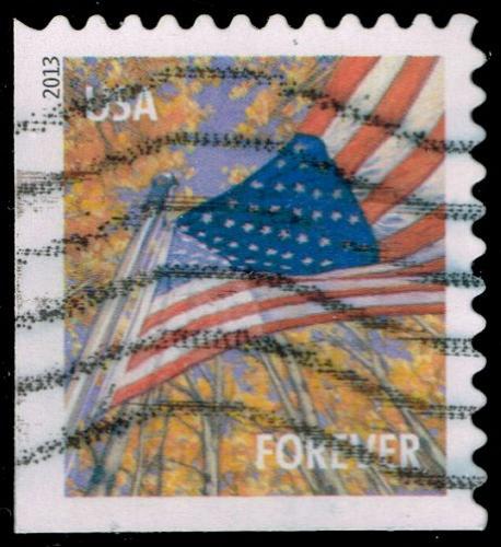 US #4780 Flag in Autumn; Used (3Stars) |USA4780-01