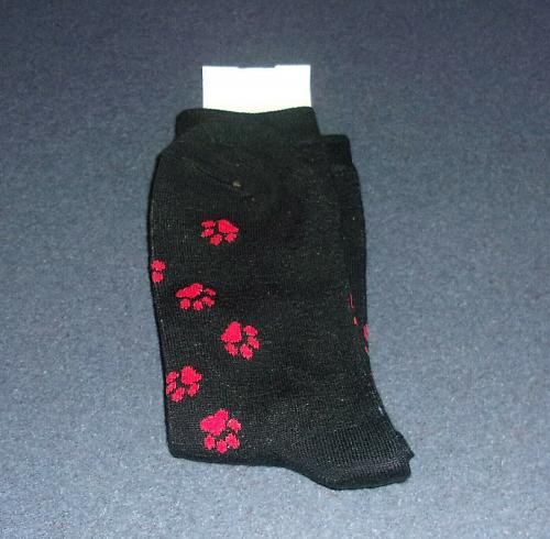 Brand New Santa Paws Design Size 9 to 11 Ladies Crew Socks 4 Dog Rescue Charity