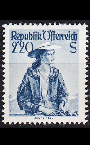 ÖSTERREICH AUSTRIA [1952] MiNr 0978 ( **/mnh ) Trachten