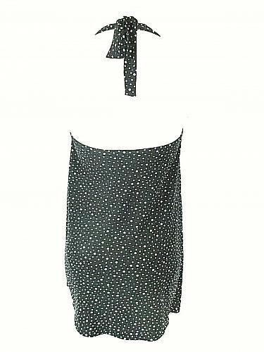 Catalina Women's Medium Black White Polka Dots Body Liner Stretch Halter Top (E)