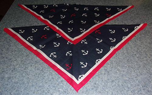 Two Brand New Patriotic Navy Anchors Design Dog Bandanas For Dog Rescue Charity