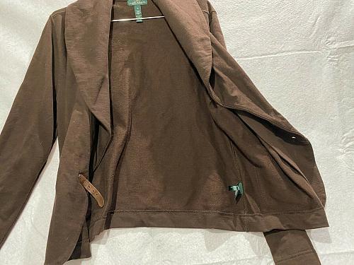 Ralph Lauren women's cotton Blazer size M buckled front pockets