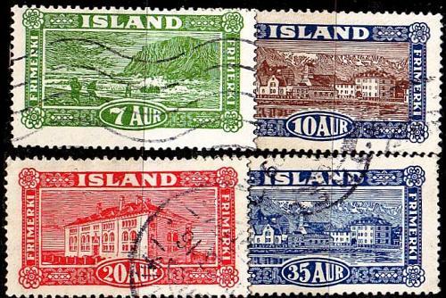 ISLAND ICELAND [1925] MiNr 0114-18 ( O/used )