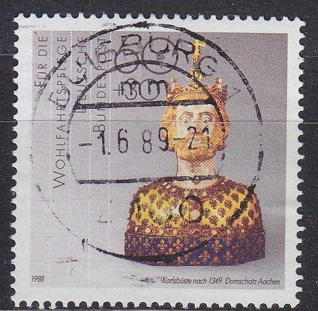 GERMANY BUND [1988] MiNr 1384 ( O/used ) Kunst