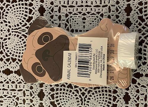Brand New Cute 2020 Pug Die Cut Desktop Calendar 4 Dog Rescue Charity Gift Item