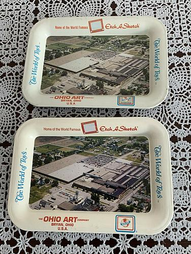 Two Ohio Art Bryan Ohio Etch A Sketch World Of Toys Small Trays For Dog Charity