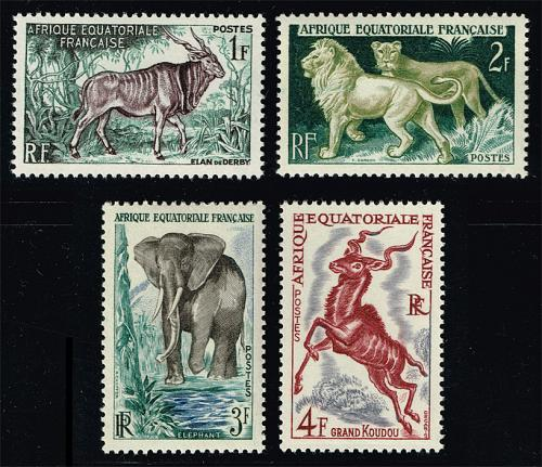 French Equatorial Africa #195-198 Animals Set of 4; MNH (4Stars) |FRE198set-02