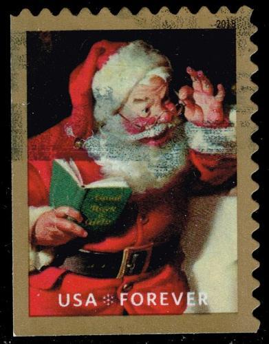 US #5334 Santa Claus and Book; Used (5Stars) |USA5334-02