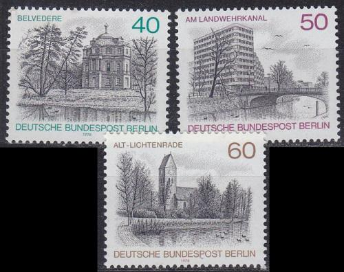 GERMANY BERLIN [1978] MiNr 0578-80 ( **/mnh ) Bauwerke