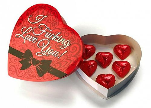 I F#CKING LOVE YOU HEART BOX CHOCOLATES - ROMANCE