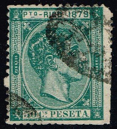 Puerto Rico #27 King Alfonso XII; Used (1Stars)  PUE027-01XVA