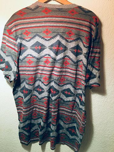 Lucky Brand Men`s Graphic XL Aztec Handcrafted Shirt NWT`s