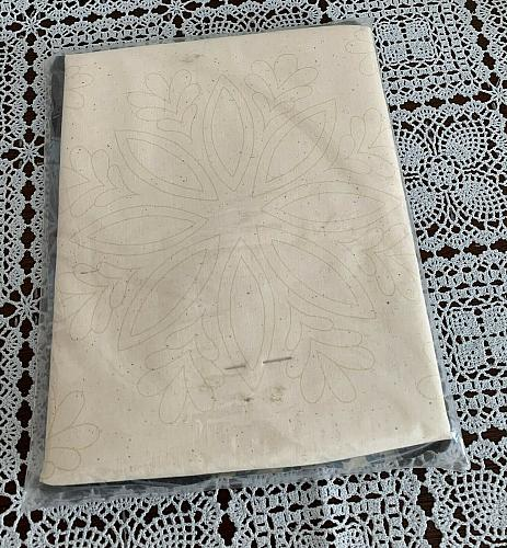 Brand New Vintage Cathy Needlecraft Snowflake 14 Inch Quilted Pillow Kit 7387