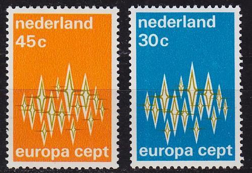 NIEDERLANDE NETHERLANDS [1972] MiNr 0987-88 ( **/mnh ) CEPT