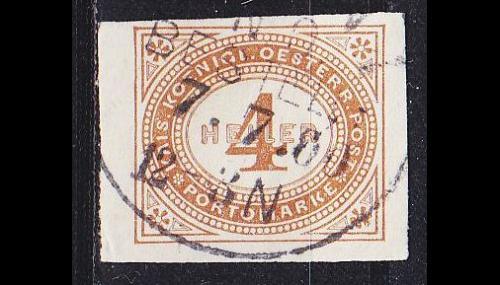 ÖSTERREICH AUSTRIA [Porto] MiNr 0013 xX ( O/used )
